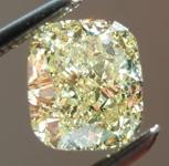 SOLD.....Loose Yellow Diamond: 1.23ct Fancy Light Yellow VS2 Cushion Cut GIA Amazing Sparkle R6057