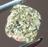 SOLD....Loose Yellow Diamond: .93ct Y-Z VS1 Cushion Cut GIA Sweet Deal R6058