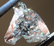 SOLD...Loose Colorless Diamond: .76ct J SI2 Horse Head GIA Great Specimen R6018