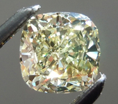 SOLD...Loose Yellow Diamond: .59ct Y-Z Internally Flawless Cushion Cut GIA Great Sparkle R6012