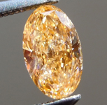 Loose Orange Diamond: .50ct Fancy Intense Yellowish Orange I1 Oval Shape GIA Great Color R6065