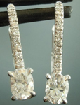 SOLD...Colorless Diamond Earrings: .48cts G VS Oval Shape Diamond Drop Earrings R6032