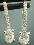 SOLD...Colorless Diamond Earrings: .48cts G VS Oval Shape Diamond Drop Earrings R6032