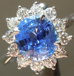 Sapphire Ring: 2.05ct Oval Shape Sapphire and Diamond Ring R5892