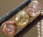 SOLD...Diamond Pendant: .95ct Pink and Yellow Round Brilliant Three Stone Pendant R875