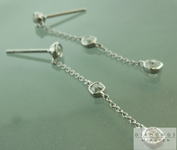 SOLD...Colorless Diamond Earrings: .62ctw D-E VS Old Mine Brilliant Diamond Dangle Earrings R6007