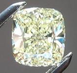 SOLD.....Loose Yellow Diamond: .65ct Y-Z Internally Flawless Cushion Cut GIA Beautiful Cut R6010