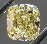 SOLD.....Loose Yellow Diamond: .83ct Fancy Intense Yellow SI2 Cushion Cut Diamond GIA R6098