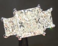 SOLD.......Diamond Ring: 4.01ct M VS1 Princess Cut Three Stone Diamond Ring R6132
