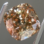 SOLD.....Loose Brown Diamond: 2.19ct Fancy Yellow Brown SI2 Cushion Cut Diamond R6153