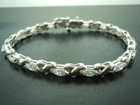 Diamond Bracelet: 4.02ctw G-H VS2-SI1 Marquise Diamond Bracelet R6182