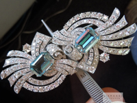 Aquamarine and Diamond Brooch Pin Combination by Raymond Yard  R6180