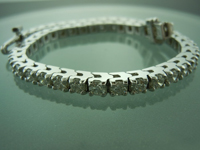 Diamond Bracelet: 5.12ctw G-H SI1 Round Brilliant Diamond Tennis Bracelet R6214