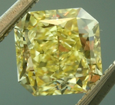 SOLD...Loose Yellow Diamond: .73ct Fancy Intense Yellow VVS2 Radiant Cut Diamond GIA R6224