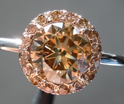 1.22ct Yellow Brown SI2 Round Brilliant Diamond Ring R6190