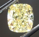 SOLD...Loose Yellow Diamond: 1.21ct Fancy Intense Yellow SI1 Cushion Cut Diamond GIA R6226