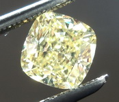 SOLD...Loose Yellow Diamond: .84ct Fancy Intense Yellow SI2 Cushion Cut Diamond GIA R6229
