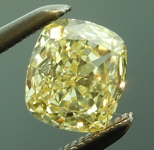 SOLD..Loose Yellow Diamond: .60ct Fancy Yellow Internally Flawless Cushion Cut Diamond GIA R6235