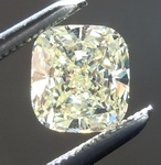 SOLD...Loose Yellow Diamond: .66ct Fancy Light Yellow Internally Flawless Cushion Cut Diamond GIA R6241