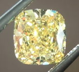 SOLD...Loose Yellow Diamond: .60ct Fancy Vivid Yellow SI2 Cushion Cut Diamond GIA R6234