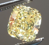 SOLD...Loose Yellow Diamond: .82ct Fancy Intense Yellow I1 Cushion Cut Diamond GIA R5707