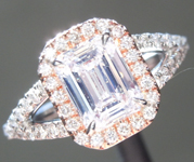 SOLD....0.91ct F SI2 Emerald Cut Diamond Ring R6172