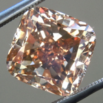 Loose Brown Diamond: 5.00ct Fancy Yellow Brown VS2 Cushion Modified Brilliant Diamond GIA R6246