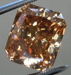 Loose Brown Diamond: 5.61ct Fancy Dark Orangy Brown SI2 Radiant Cut Diamond GIA R6248