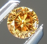 SOLD.....Loose Orange Diamond: .13ct Fancy Deep Brownish Orangy Yellow VS1 Round Brilliant Diamond GIA R5968
