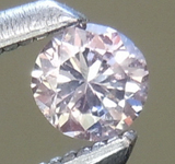 SOLD.....Pink Diamond: .11ct Fancy Light Pink SI2 Round Brilliant Diamond GIA R5969