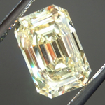 SOLD....Loose Yellow Diamond: 1.30ct Fancy Yellow VS2 Emerald Cut Diamond GIA R6274