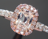 0.38ct F SI1 Cushion Cut Diamond Ring R6311