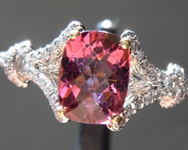 0.91ct Pink Cushion Cut Tourmaline Ring R6337