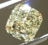 SOLD...Loose Yellow Diamond: 1.13ct Fancy Light Yellow SI2 Cushion Cut Diamond GIA R6389