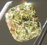Loose Yellow Diamond: 1.13ct Fancy Yellow SI2 Cushion Modified Brilliant Diamond GIA R6390