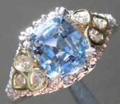 SOLD.... Sapphire Ring: 1.69ct  Blue Cushion Cut Sapphire Ring R5244