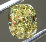 SOLD....Loose Yellow Diamond: .71ct Fancy Intense Yellow VS1 Cushion Cut Diamond GIA R6392