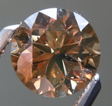 SOLD...Loose Brown Diamond: 1.01ct Fancy Yellow Brown SI2 Round Brilliant Diamond R6191