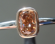 SOLD...Brown Diamond Ring: .42ct Fancy Yellowish Brown SI1 Cushion Cut Diamond Ring R6377