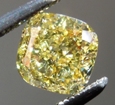 Loose Yellow Diamond: .77ct Fancy Intense Yellow I1 Cushion Cut Diamond GIA R1736