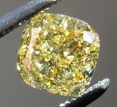 SOLD.......Loose Yellow Diamond: .77ct Fancy Intense Yellow I1 Cushion Cut Diamond GIA R1736