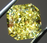 Loose Yellow Diamond: 2.64ct Fancy Vivid Yellow VS2 Radiant Cut Diamond GIA R6495