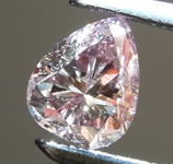 Loose Diamond: .55ct Fancy Pink Brown I1 Pear Brilliant Diamond GIA R6473
