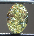Loose Yellow Diamond: 1.22ct Fancy Yellow VVS1 Oval Diamond GIA R6496