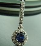 Sapphire Pendant: .57ct Blue Round Brilliant Sapphire and Diamond Pendant R6470