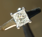 SOLD...Diamond Ring: .53ct G VS1 Princess Cut Diamond Ring R1363