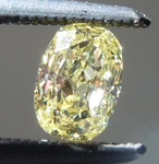 SOLD........Loose Yellow Diamond: .37ct Fancy Light Yellow VS1 Cushion Cut Diamond R5911