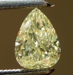 SOLD... Loose Yellow Diamond: .52ct Fancy Yellow I1 Pear Shape Diamond R6286
