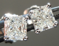 Diamond Earrings: .53ctw H VS2-SI1 Original Radiant Cut Diamond Stud Earrings R6223