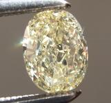Loose Yellow Diamond: .48ct Fancy Light Yellow VS1 Oval Diamond GIA R6569